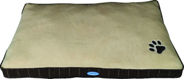 large dog bed brown