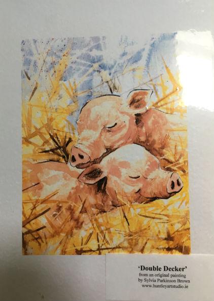 Pig Greeting Crads